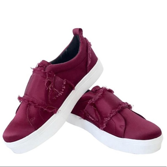 801e238237fb4 SALE ⭐ Levine frayed satin platform sneakers